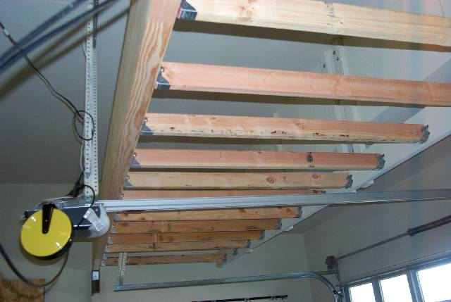 Elegant And Now The Floor Is In And The Garage Door Support Angle Irons Are Cut And  Reattached To The Loft Structure. The Floor Is Of Course Screwed Down To  The ...