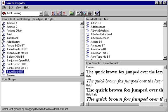 bitstream font navigator download