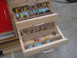 Bobino's Router Table, drawers, bit view