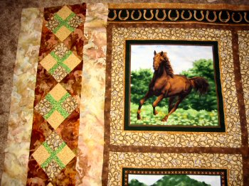 horse quilts themed tag throughout quilt sewmod