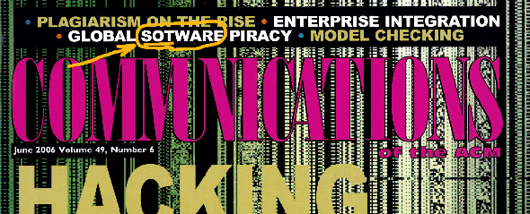 Global Sotware Piracy image, 6/2006 cover