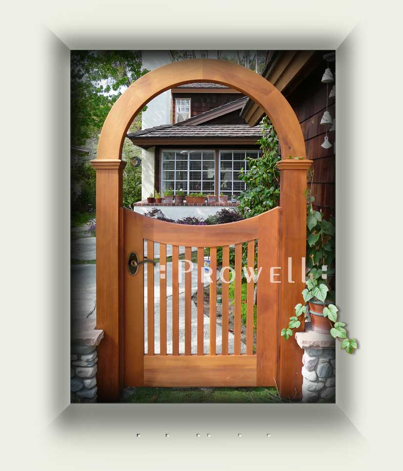 Prowell Woodworks Wood Garden Arbor with Arch 10 in
