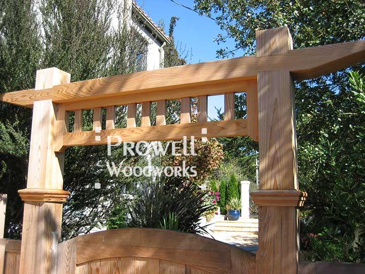 Custom Wood Garden Gate Arbor 1