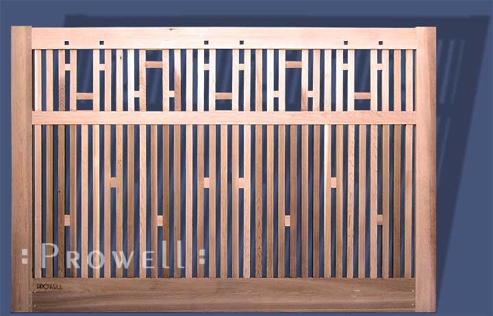 Custom Wood Driveway Gate 18