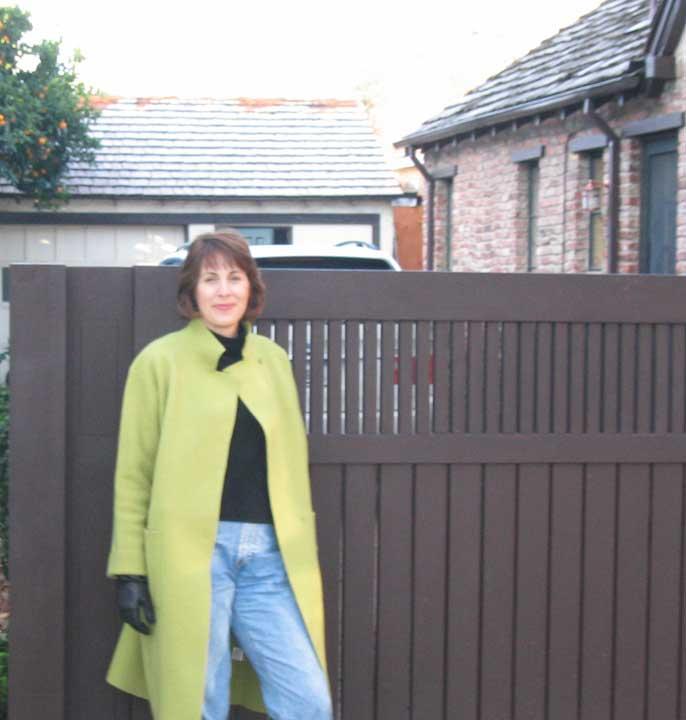 A Bamboo Gate In Palo Alto: Custom Wood Privacy Driveway Gate #25 In Palo Alto, CA