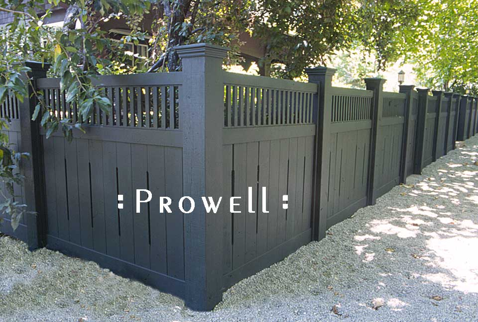 Custom Wooden Fence Panel Design 1 By Prowell Woodworks