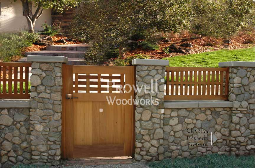 Custom Wood Wall-Top Fence Panels #2 In Claremont, CA