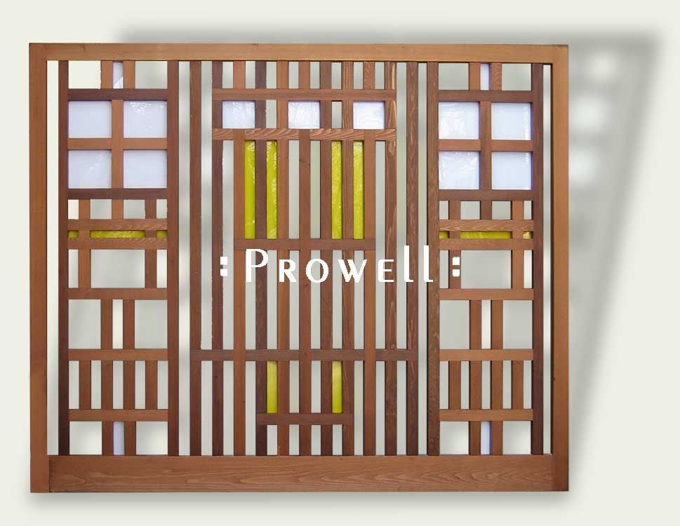 Wood trellis panels 1 by prowell woodworks for Wooden garden trellis designs