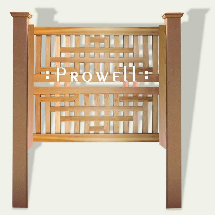 Custom Wood Trellis Panel 9 by Prowell Woodworks