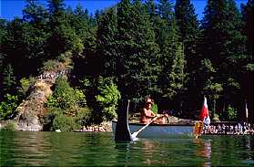 The swimming hole at the Bohemian Grove.