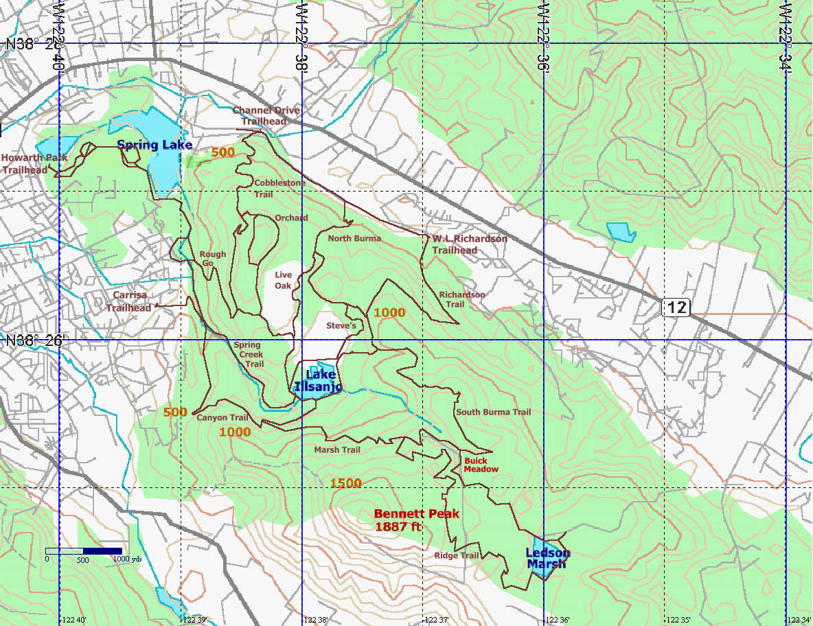Annadel State Park: Trail Map