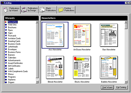 microsoft publisher catalog templates - microsoft publisher 98