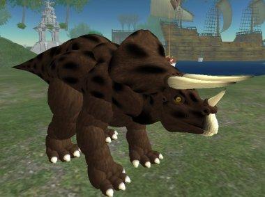 Prospero Linden as a Triceratops